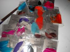 Buy Feather hair clips double carded assorted color lot 22 pairs crafts beauty SALE