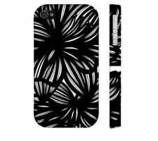 Buy Brim Black White Flowers Floral Botanical Iphone 4/4S Phone Case