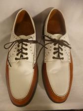 Buy Allen Edmonds Devonshire Tan & White Golf Shoes Men's Size 10B