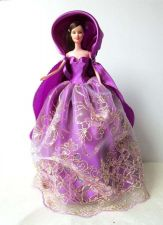 Buy PURPLE FROZEN GOWN COSTUMES DRESS UP OUTFIT FANCY FASHION FOR BARBIE, DOLLS 12""
