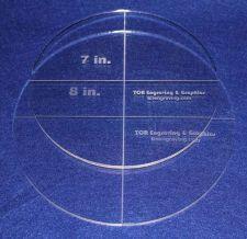 "Buy 2 Piece Circle Set - NO seam 7"",8"" ~ 1/4"" Thick - Long Arm"