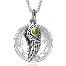 Buy Archangel Raphael Sigil Amulet Magic Powers Angel Wing Charm Tiger Eye Pendant 22 Inc