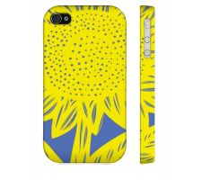Buy Ries Yellow Blue Iphone 4/4S Apple Phone Case Flowers Botanical