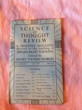 Buy SCIENCE OF THOUGHT REVIEW Applied Right Thinking Henry T. Hamblin July 1950