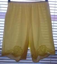 Buy Vintage Retro Lacey 60s 70s Sears Petti-pants Knickers Panties Yellow Applique S