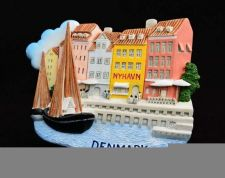 Buy 3D SCULPTURE FRIDGE MAGNET MEMORIAL PLACE NYHAVN COPENHAGEN DENMARK COLLECTIBLE