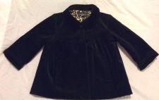 Buy Girls Black Shaw Velour Jacket Size M 7/8