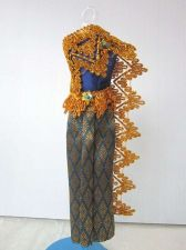 """Buy BLUE THAI NATIONAL TRADITIONAL DRESS UP HANDMADE FOR BARBIE, Dolls 12"""" COSTUMES"""