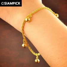Buy Thai 22k 24k Baht Yellow Gold Plated GP Bracelet Chain Charm Bangle Jewelry B015