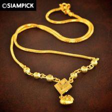 "Buy 18"" Dubai Chain Thai Baht Yellow Gold GP 22k 24k Necklace Pendant Jewelry 71"