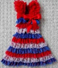 Buy Red, White Blue Lace Dress