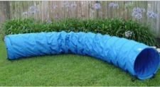 Buy NEW Dog Agility Tunnel Runner Outdoor Training Equipment 18 Ft Staked