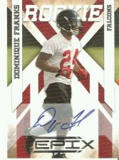 Buy NFL Dominque Franks 2010 Panini Epix Auto Rc #499 Atlanta Falcons Autograph MNT