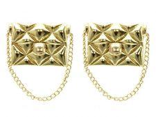 Buy Gold Handbag Purse Earrings with Gold Chain Gold Earrings Chain Earrings 1.5'