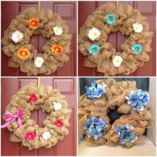 Buy Wreath Deco Mesh Summer Door! Custom Orders Welcome!