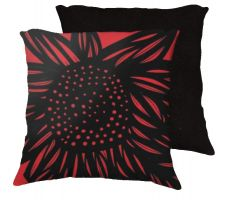 Buy Orlando 18x18 Red Black Pillow Flowers Floral Botanical Cover Cushion Case Throw Pill