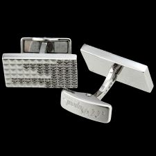 Buy NEW S.T. Dupont 18K Solid White Gold Cufflinks, 1.08K Brilliant Cut Diamonds