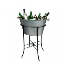 Buy BEVERAGE TUB OVAL GALVANIZED PARTY BUCKET WITH STAND