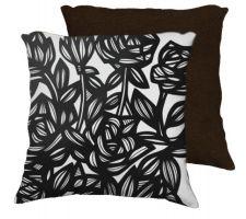 Buy 22x22 Kowalske Flowers Floral Botanical Black White Brown Back 631 Art