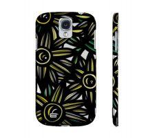 Buy Turnow Yellow Black Flowers Samsung Galaxy S4 Phone Case