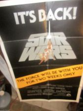 "Buy Star Wars Movie Poster 1977 ""IT's BACK"" owned since issued; folded R810077"