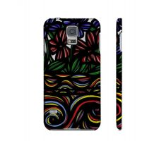 Buy Dejarnette Yellow Blue Flowers Samsung Galaxy S5 Phone Case