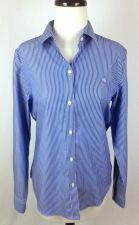 Buy Ralph Lauren Shirt M Womens Blue Cotton Long Sleeve