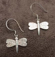 Buy Sterling Silver Dragonfly Hook Women Earrings Handcrafted 925 Artisan Handmade