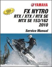 Buy 2008-2011 Yamaha FX Nytro Snowmobiles Service Repair Shop Manual CD