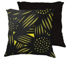 Buy Garnick 18x18 Yellow Black Pillow Flowers Floral Botanical Cover Cushion Case Throw P