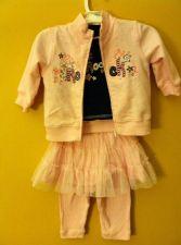 Buy Baby Girls Tutu Pants, Shirt And Jacket Pink Long Sleeve Size 3-6m
