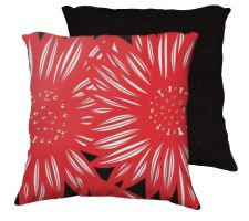 Buy Caravati 18x18 Red White Black Pillow Flowers Floral Botanical Cover Cushion Case Thr