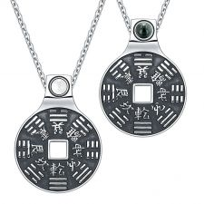 Buy Amulets Love Couple Feng Shui Lucky Coins Kanji Magic Set Red Jasper White Simulated