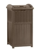 Buy Trash Resin Wicker Hideaway Durable Outdoor Patio Deck Container Garbage Storage