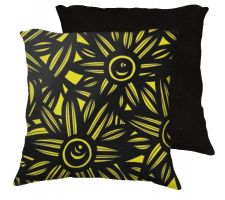 Buy Forkan 18x18 Black Yellow Pillow Flowers Floral Botanical Cover Cushion Case Throw Pi