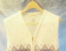 Buy EUC women's sz.1X ST. JOHN'S BAY multi-color zippered sweater vest
