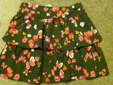 Buy Gymboree Butterfly Girl Size 7 Green Butterfly Flower Ruffle Skirt Skort