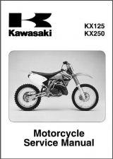 Buy 03-05 Kawasaki KX125 KX250 Service Repair Workshop Manual CD ..- KX 250 125