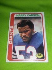 Buy VINTAGE HARRY CARSON GIANTS SUPERSTAR 1978 TOPPS ERROR CARD #393 FR-GD