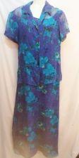 Buy Robbie Bee Dress 6 Silk Blue Floral 2 pc Womens Summer sundress