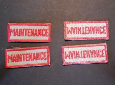 Buy Lot of 4 Vintage Maintenance Sew on Shirt or Jacket Patches A100 Stock