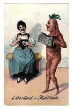 Buy VERY RARE c1920 VEGETABLE VEGGIE CARROT PEOPLE VINTAGE POSTCARD ANTHROPOMORPHIC