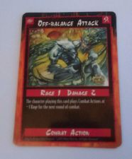 Buy Rage Off Balance Attack Trading Card Combact Action 1995