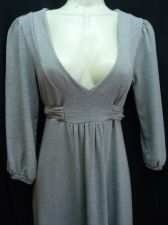 Buy Gap Dress Xsmall Gray Tie back Misses Soft polyester XS Fall
