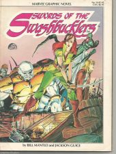 Buy SWORDS OF THE SWASHBUCKLERS 1984 Mantlo / Guice Marvel Graphic Novel #14