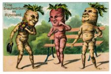 Buy VERY RARE 1919 VEGETABLE VEGGIE CARROT PEOPLE VINTAGE POSTCARD ANTHROPOMORPHIC