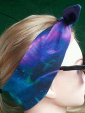 Buy Headband hair wraptie bandana northern lights Print Boho 100% Cotton hand made