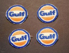 "Buy Lot of 4 Vintage Gulf Sew on Patch 1 3/4"" Made in USA"