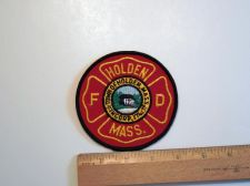 Buy 1980's Era Holden Fire, MA Sew on Cheese Cloth Patch