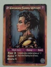 Buy Cassandra Shadow-Watcher Rage 3 1995 Double side Card Game